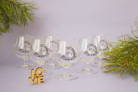 6 бокалов для коньяка