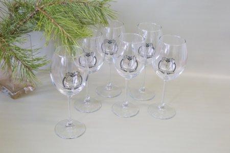6 бокалов для вина