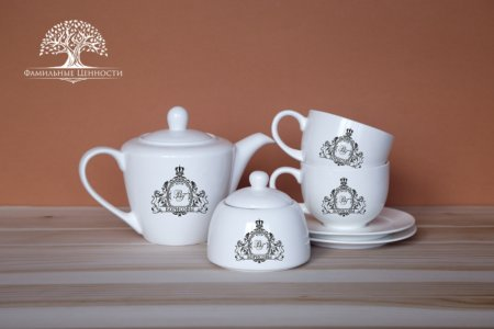 2 чайных пары 280 мл + чайник + сахарница