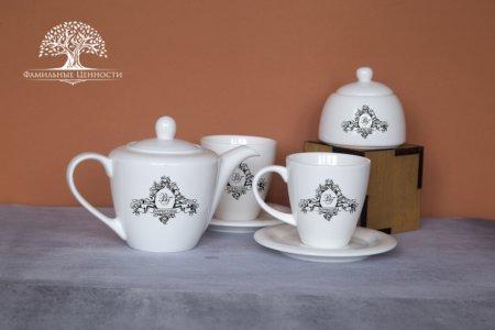 2 чайные пары 320 мл + чайник + сахарница